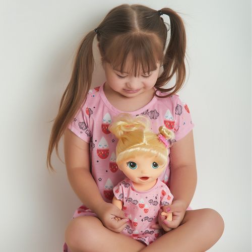Kit pijama com camisola para boneca